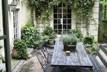 Courtyards / Beautiful courtyards and outdoor living ideas mostly from France curated by Michele of http://HelloLovelyStudio.com