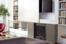 TV en pared / Ideas de TV integradas en pared