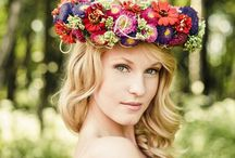 Hairdressing // floral wedding hairstyle