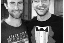 Adam Levine and Justin Timberlake