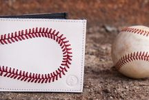 All Leather Baseball Wallet with red thread stitching / Makes the Best Baseball Gift for Baseball Fans, for Birthdays, Fathers Day, Graduation, give a lasting remembrance  for a Baseball Player, Coach, or Fan Real Baseball Leather  Wallet Made from Real Baseball Leather and Red Stitching Baseball Gifts for All Seasons   Fill 8 slots with Gift Cards for a real surprise If you like this you can purchase at Http://www.woodbats4sale.com