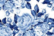 Látka modré růže