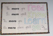 Library Displays / This board contains pictures of displays that were created in the library or ideas we would like to use.