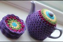 Crochet tea cosies