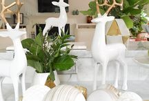 Modern White & Gold Collection / This year's hot accent color is holiday's most striking color story: A touch of gold gives winter white a dramatically different look.