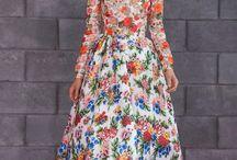 Estampas de Vestidos Florais / Prints of Florals Dresses