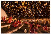 Floatting lanterns.