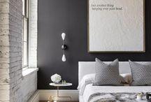 Black grey copper blush interior