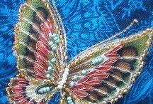 бисер бабочки