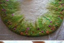 tapis laine feutrée