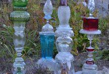 kynttelikköjä vanhoista laseista