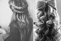 Hair styles / Hair and amazing makeup ideas