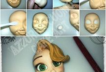 Modeling face with fondant