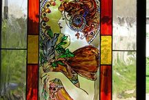 ólomüveg színes díszüveg ajtó betét