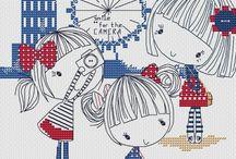 Cross Stitch without pattern