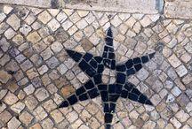 Mon Lisbonne par terre / Pavé au sol de Lisbonne  Black and White