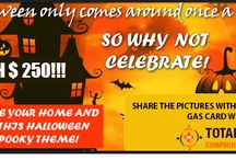 Light Up All Night Halloween Contest / Decorate your Home & Garden this Halloween with a Spooky theme!  Share the Pictures with us to Win a Gas Card worth $250!!