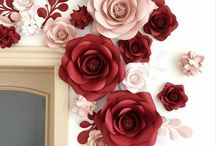 wall paper flowers diy decor