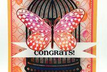 tarjetas de mariposas.