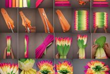 Paper flowers / Hand made / by Macan Rosabal