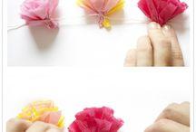 Peçete çiçekler
