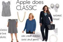 curvy fashion plus size apple body
