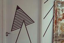 ide gambar di pintu