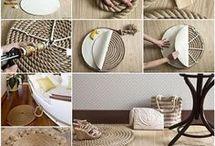 Creativo pisapies con cuerda