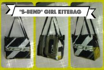 """""""S-BEND"""" - Girl Kitebag / Borsa da donna con manici a spalla, misura media, con chiusura a cerniera. Dotata anche di una taschina interna."""