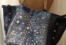 Jeans denim borse e varie