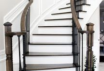 Staircases with iron pickets