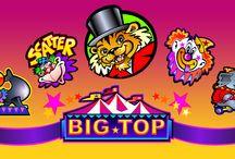 Big Top / Tutti al circo! Benché questa slot non offra funzioni particolarmente innovative, resta una delle più amate, grazie ai simpatici e coloratissimi personaggi protagonisti. Il jolly, rappresentato dal clown, sostituisce la maggior parte dei simboli; tre o più simboli scatter, rappresentati dalla scimmietta, creano la propria combinazione vincente. Prova Big Top sul Casinò Online Voglia di Vincere!