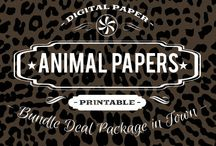 ANIMAL PRINTS / DIGITAL PAPERS - ANIMAL PRINT  BY DIGITAL PAPER SHOP
