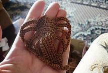 crochet mix leather