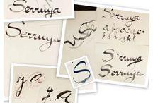 Evolución caligráfica, buscando mi firma