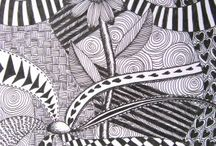 Zentangle / Unfortunately zentangle creates more stress than relaxation for me.  I'm just not a natural.  P.S.  the pins here are NOT my work!
