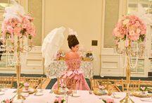 Marie Antoinette Bridal Shower / Marie Antoinette themed bridal shower at Loews Portofino Bay Hotel, Orlando, FL.