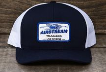 """Airstream Hats / Hats and beanies with Airstream logos and """"live riveted"""" branding."""