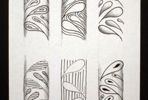 Zentangle / Patterns tutorials and drawings