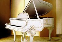 White & Off-White Pianos / Why not make a collection of pics for white & off-white pianos! :) We don't sell white pianos in our store, but they have a special appeal for the right decor. www.supremepianos.com