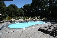 "PLEASURE ISLAND by San Juan Fiberglass pools / Pleasure Island (361 photos)  Width 16' 2"" / 4.93M Length 39' 1"" / 11.91M Depth 6' / 1.83M Area 448ft2 / 41.6M2 Volume 14,000G / 53,000L"
