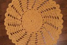 Crochet/Hačkovanie/Virkaminen / Own crochet carpets or baskets. Crochet tips