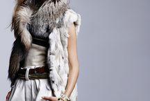 winter fur model editorial