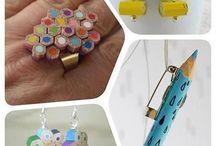 Lápices de colores reciclados