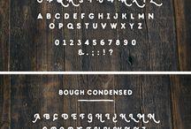 Tipografía / Los glifos duros