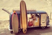 VW bugs & busses / Aircooled surfer transporters / by Berry Clemens
