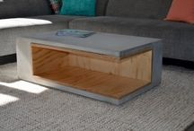 Concret-wood furniture