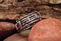Metal weaving rings