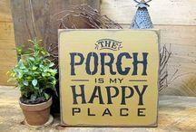 Unique porch signs