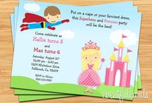 superhero and princess bday party